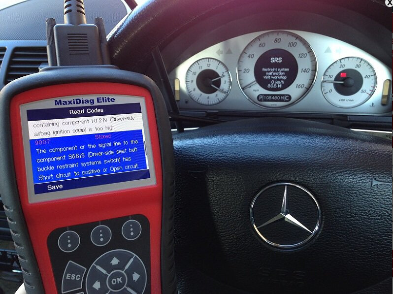 9007 Mercedes Autel MD702 MD802-06