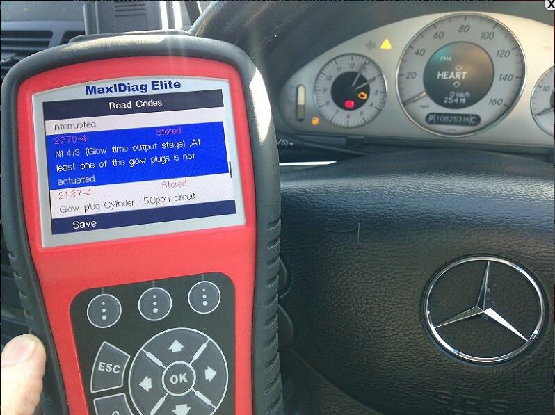 Mercedes 2270-4 2137-4 glow plug Autel MD702 MD802-10