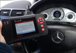 Mercedes 9183 SRS airbag warning light fault code-04
