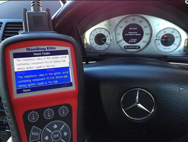 Mercedes 9223 srs fault code Autel MD702 MD802-11