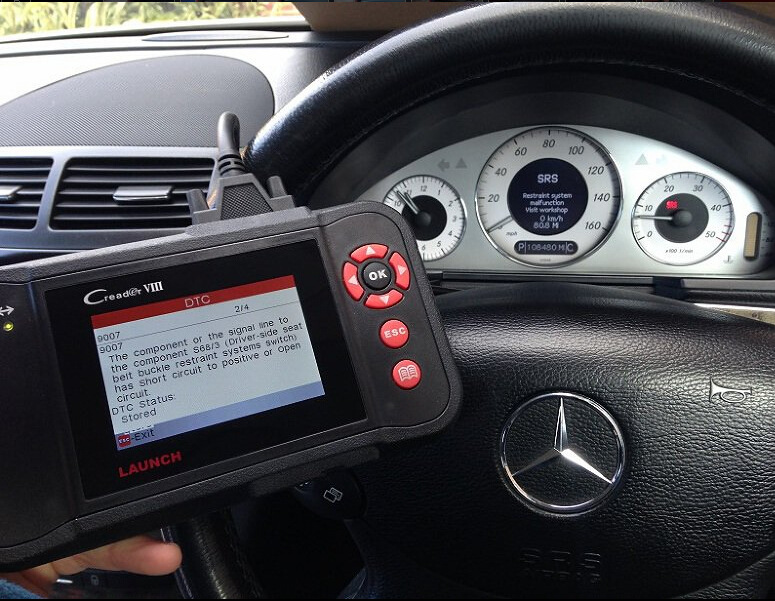 Auto Diagnostic tools advice to read clear DTCs on Mercedes E Class