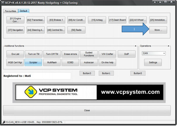 How to use VCP for Audi A3 MQB coding